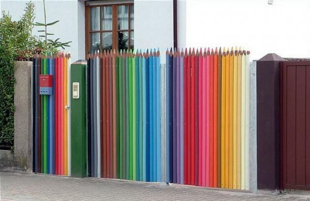 DIY Fence ideas, Fun Pencil Fence, DIY Fence projects
