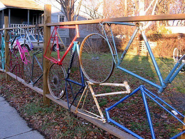 DIY Fence ideas, DIY Fence bicycle