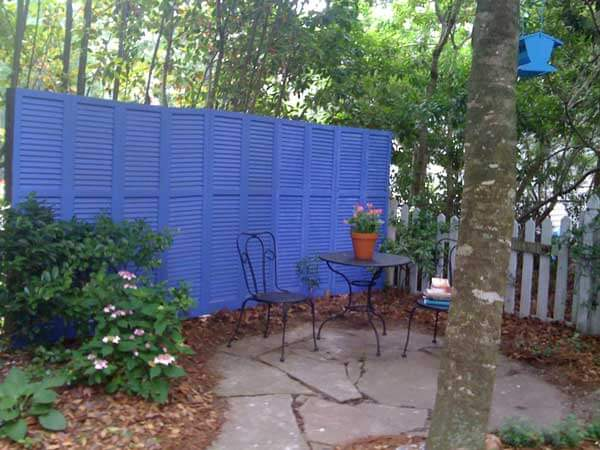 Shutter Fence DIY Ideas