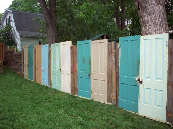 Old door fence DIY fence ideas and designs