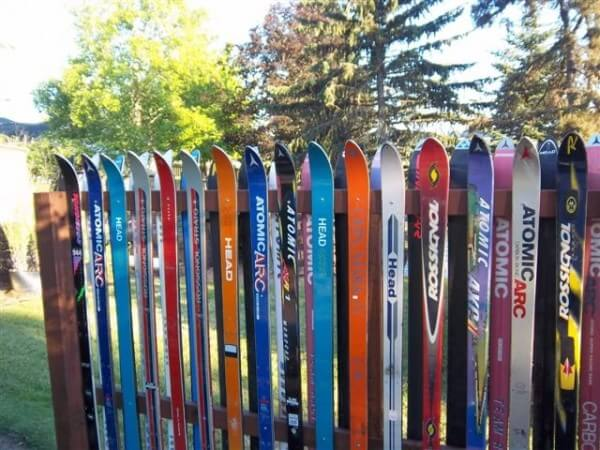 DIY snow ski fence design and ideas