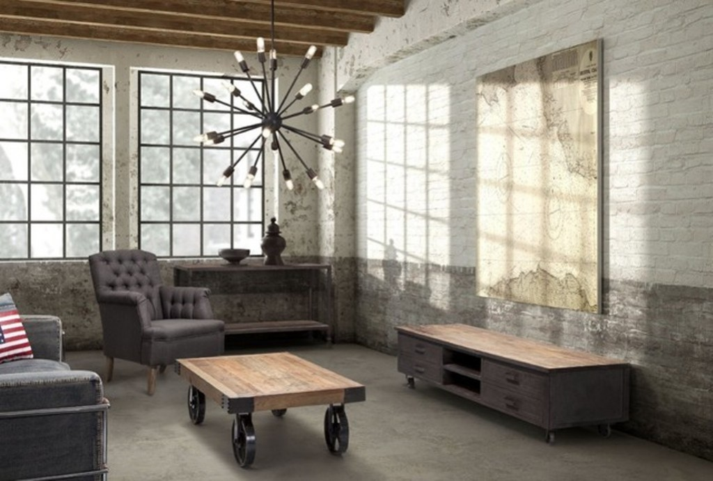 Amazing Industrial Living Room