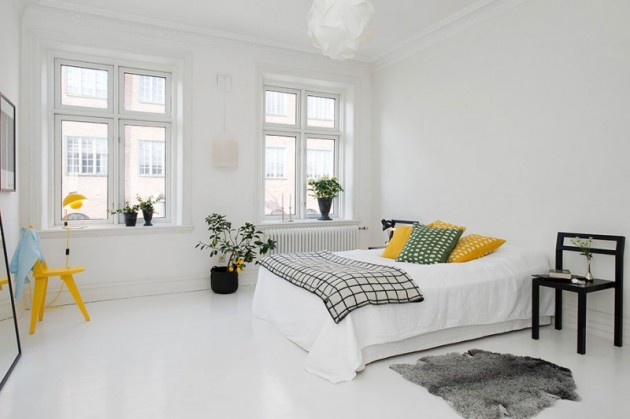 Beautiful Scandinavian bedroom