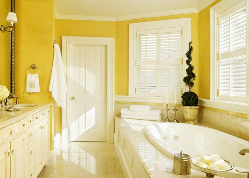 Beautiful Yellow Bathroom (2)