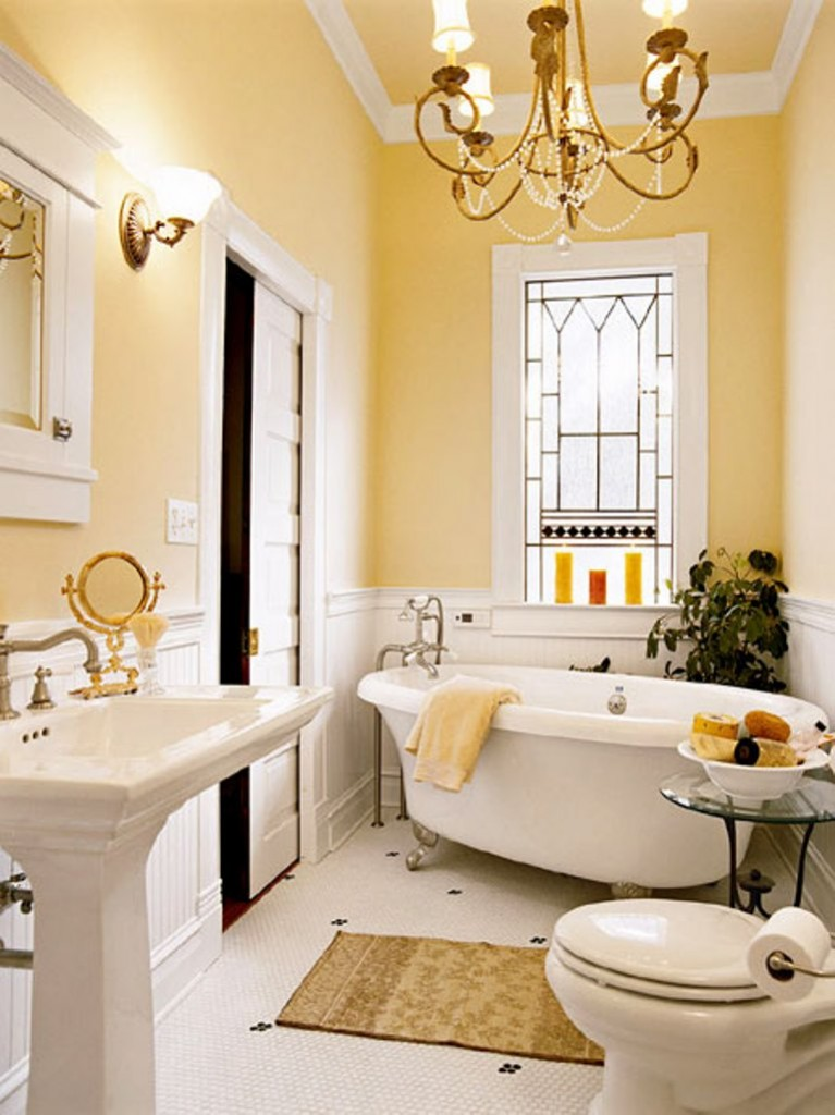 Beautiful Yellow Bathroom