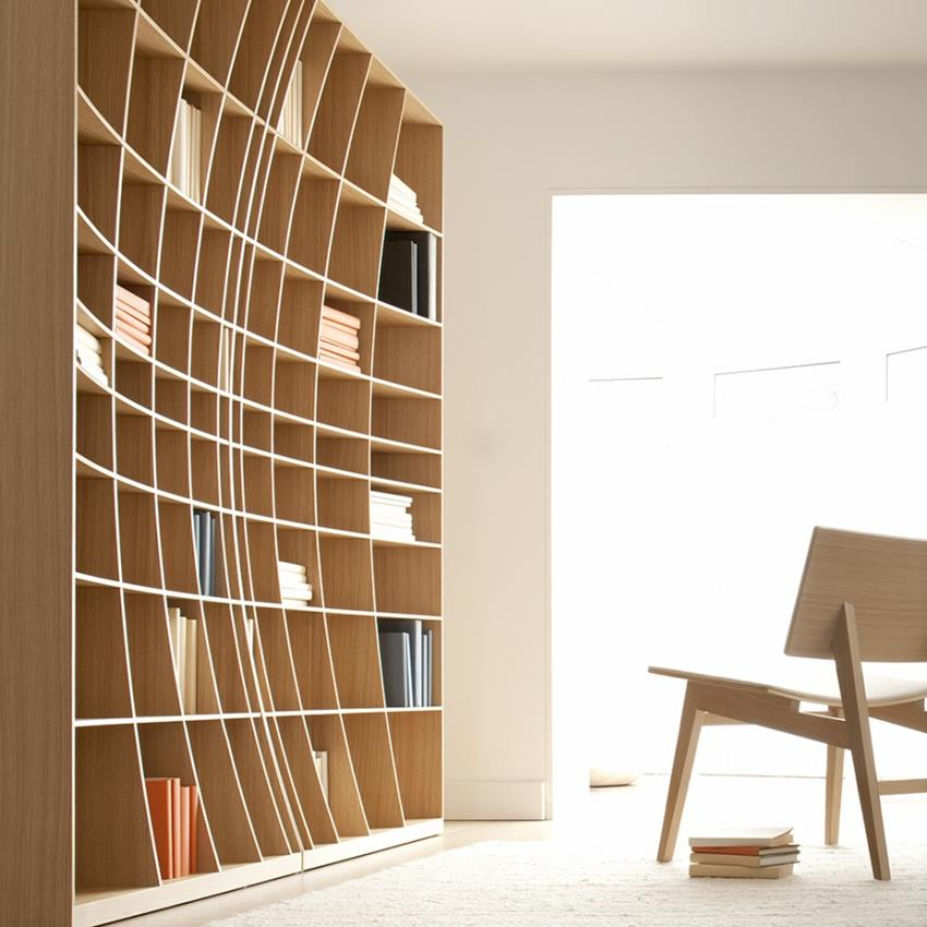 Concave Bookcase by Simon Pengelly for Joined + Jointed (1)