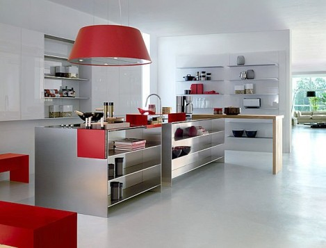 Contemporary-Stainless-Steel-Kitchen-by-Elmar-Cucine