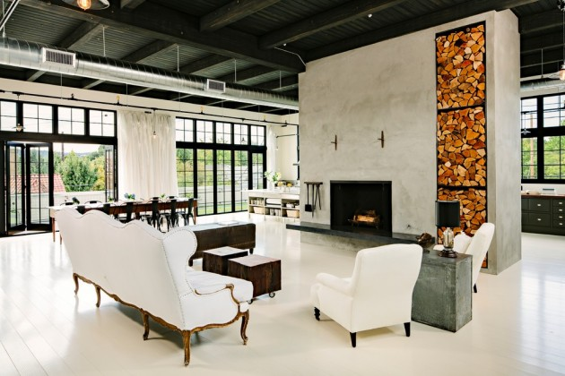 Fascinating Industrial Living Room Designs