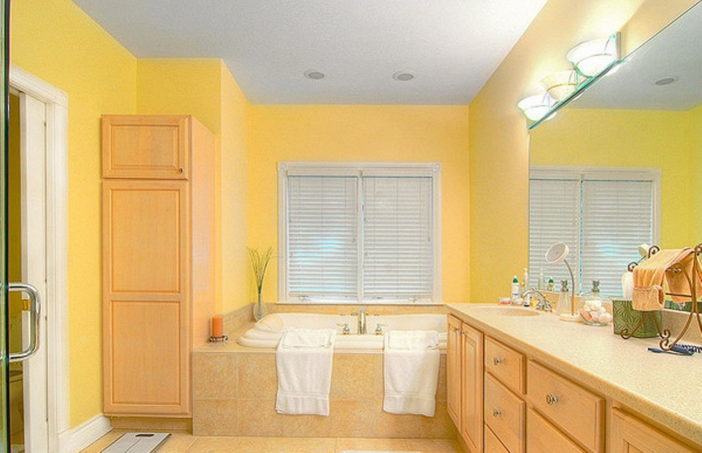 Yellow-Bathroom
