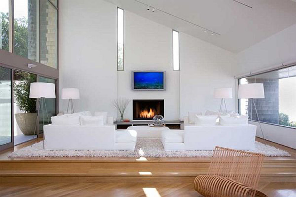 Modern White Living Room Design Part 91