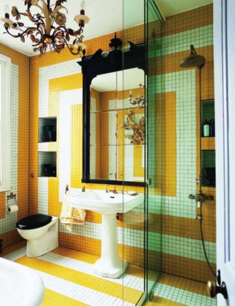 yellow-bathroom design