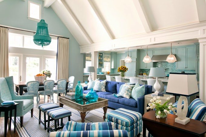 Exceptional Beautiful Eclectic Home With Turquoise Color (1)