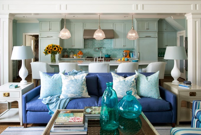 beautiful eclectic home with turquoise color 2 - Eclectic Home Decor