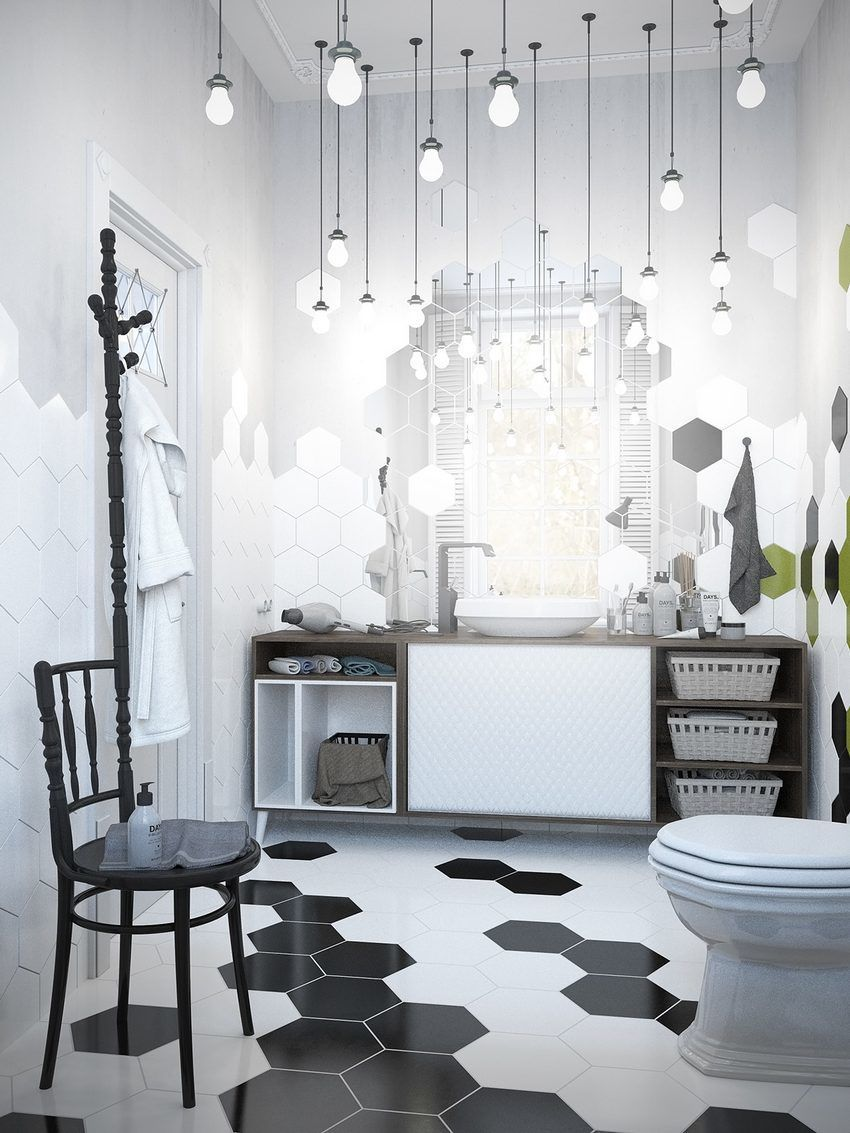 Dream Bathroom, Beautiful Lighthing, A Scandinavian Home with Industrial Finds
