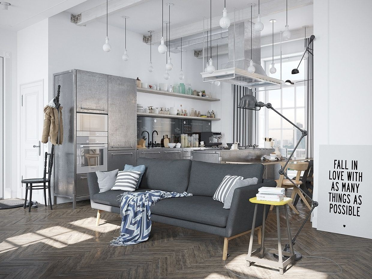 Living Room, A Scandinavian Home with Industrial Finds