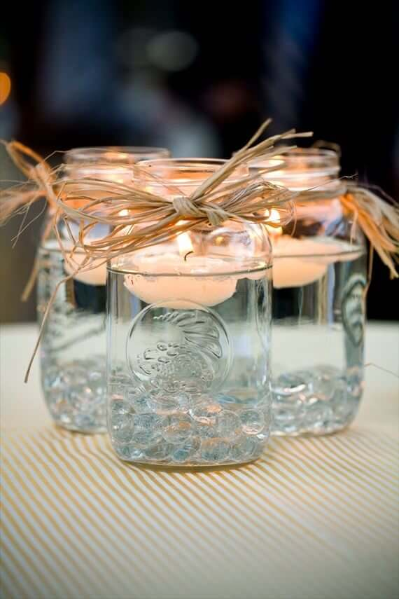 DIY Mason Jar Floating Centerpiece