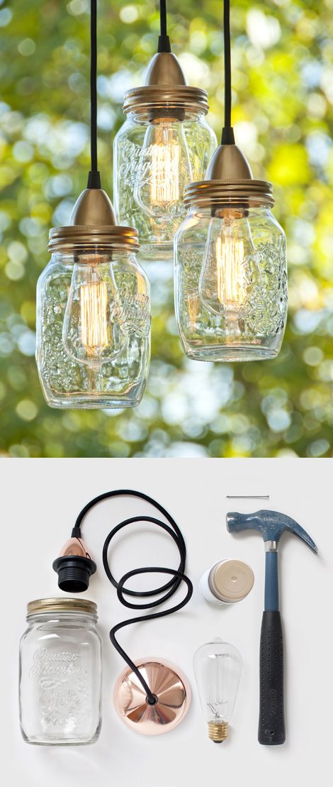 DIY Mason Jar Hanging Lights
