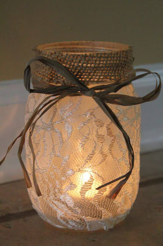 DIY Mason Jar Luminaries 1