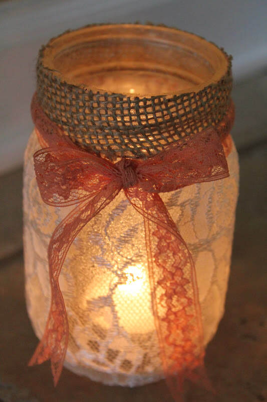 DIY Mason Jar Luminaries 2