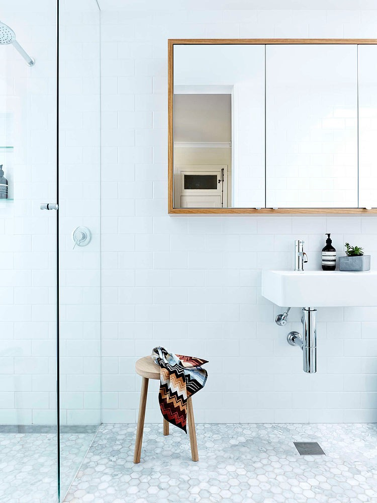 Beautiful White Bathroom, Neutral Bay House by Downie North Architects