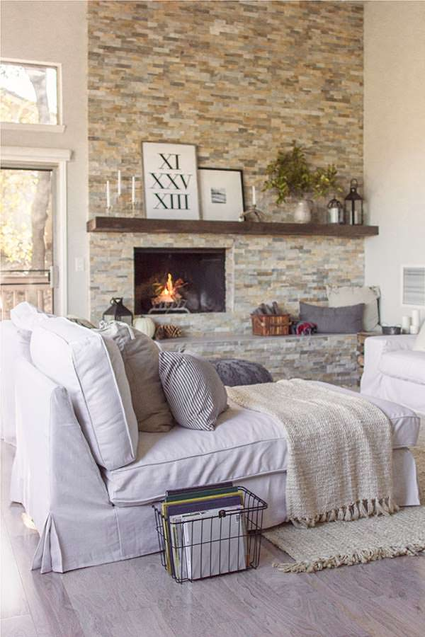 A fireplace is the focal point of any living room