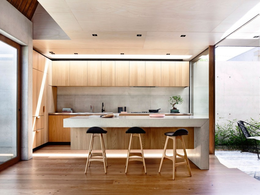Open plan kitchen, 2016 Beach Avenue