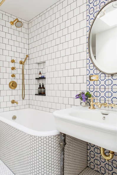 Bathroom with Gold Details