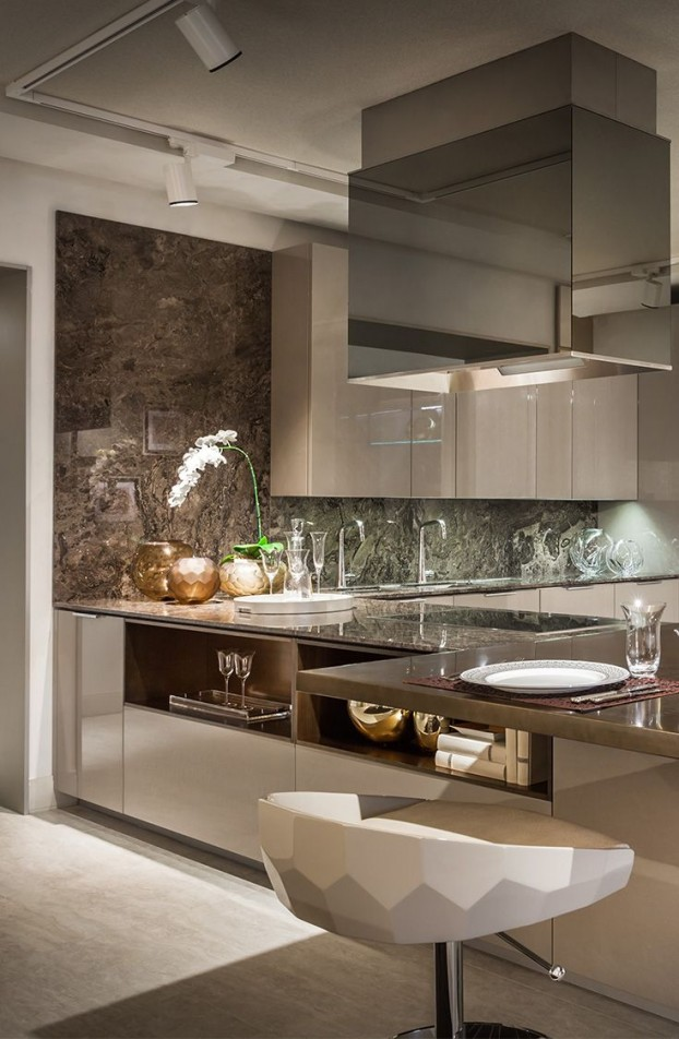 Beautiful Luxury Kitchen, Fendi Casa Collection