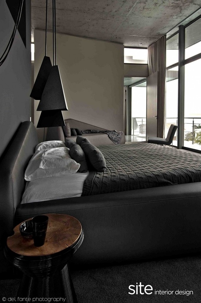 Gray Bedroom Decor, Aupiais house by site interior design