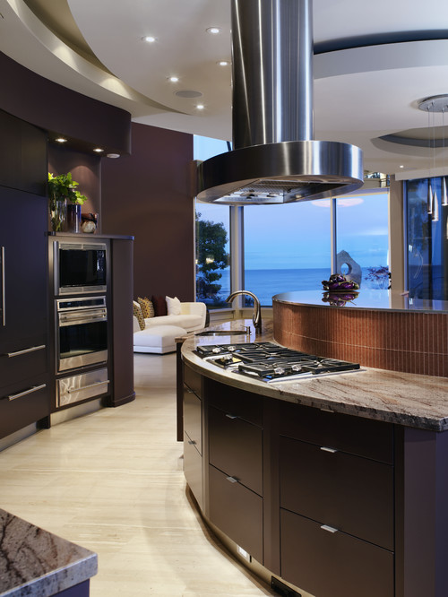 Luxury and Eclectic Kitchen, Waters Edge Project by xtcdesign