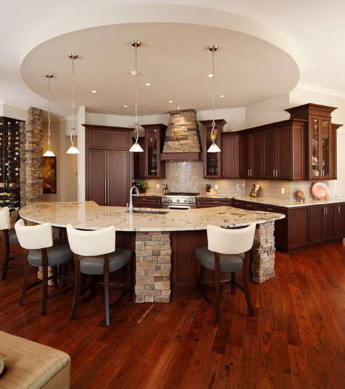 Transitional kitchen by Christopher Burton Homes