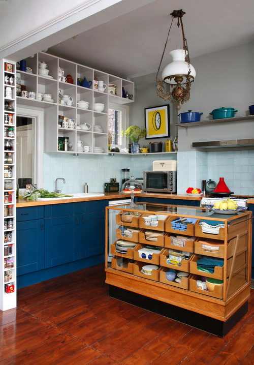 An beautiful l-shaped kitchen pantry, Kitchen Storage Ideas