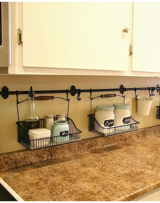 Clever Kitchen Backsplash Storage, Kitchen Storage Ideas