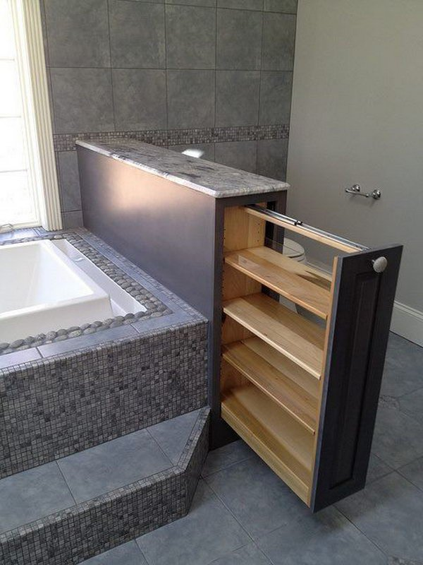 Clever bathroom storage idea