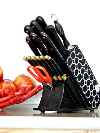 DIY Chalkboard Knife Block, Kitchen organization