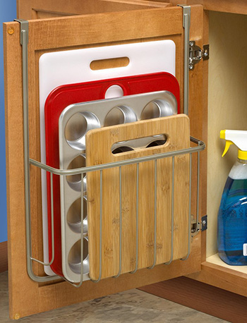 Over-The-Cabinet Cutting Board, Kitchen Storage and Organization Ideas