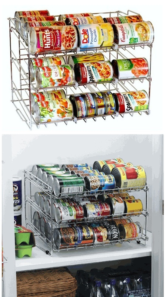 25 genius diy kitchen storage and organization ideas for Cheap kitchen storage ideas