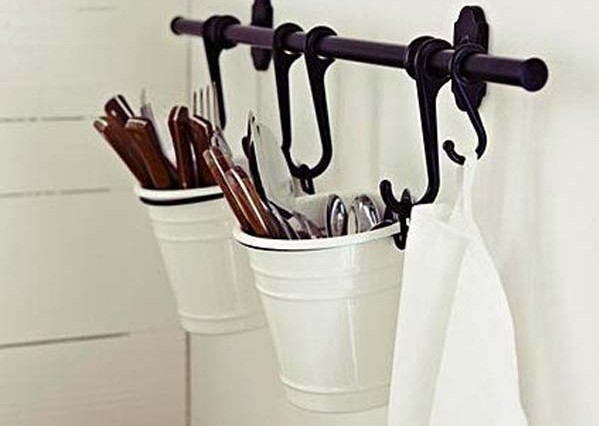 You can use this basket utensil storage holder, Kitchen storage ideas
