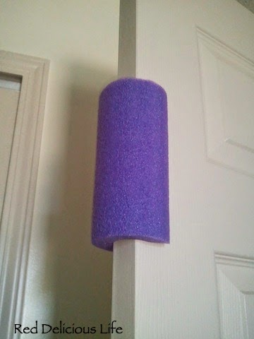 Another Useful Idea! Pool Noodle Door Stop