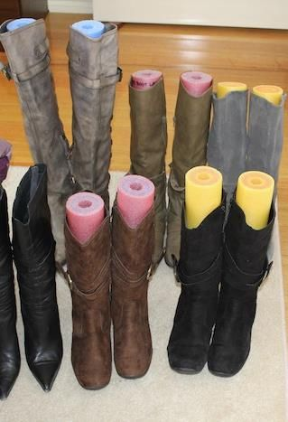 Boot Shapers, DIY Ideas Pool Noodle