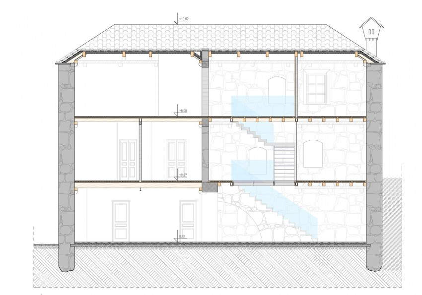 House Plan 4, Reconstruction of a Villa in Ljuta by Enforma Studio