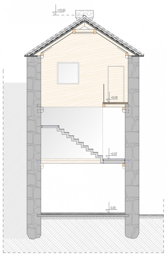 House Plan 5, Reconstruction of a Villa in Ljuta by Enforma Studio