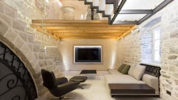 Living Room, Reconstruction of a Villa in Ljuta by Enforma Studio