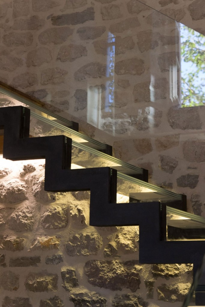 Staircase lighting, Reconstruction of a Villa in Ljuta by Enforma Studio