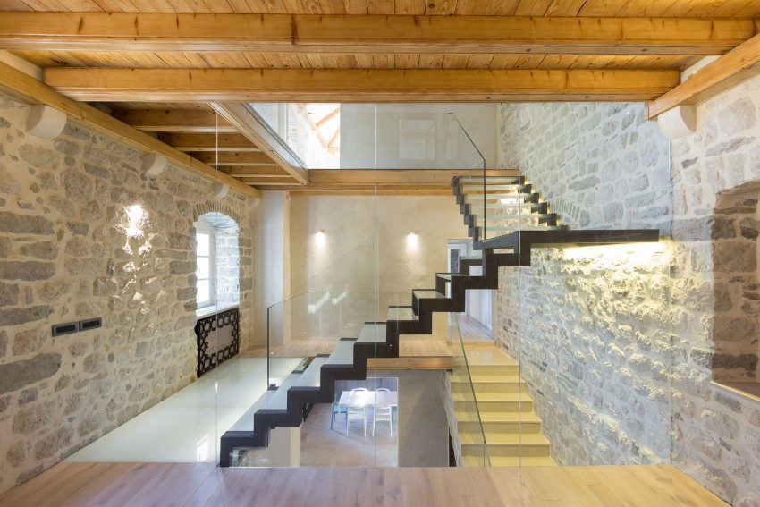 Stairs, Lighting, Reconstruction of a Villa in Ljuta by Enforma Studio