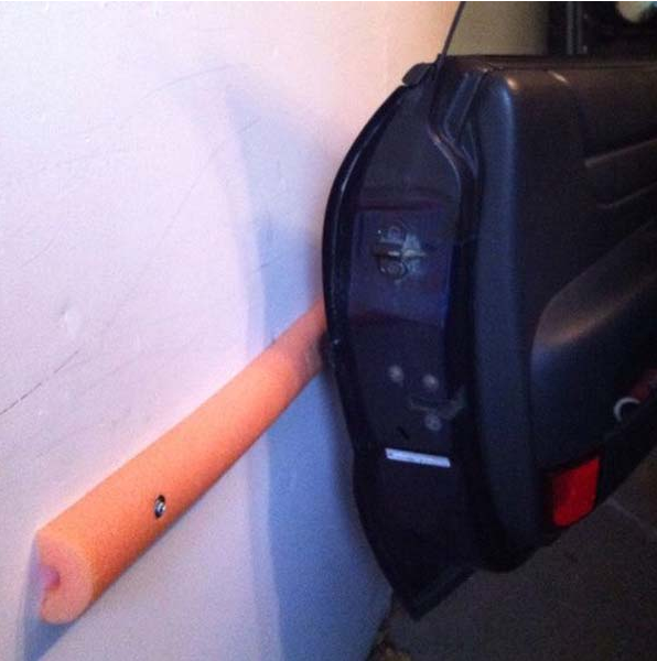 You can protect your walls with Pool Noodle, DIY