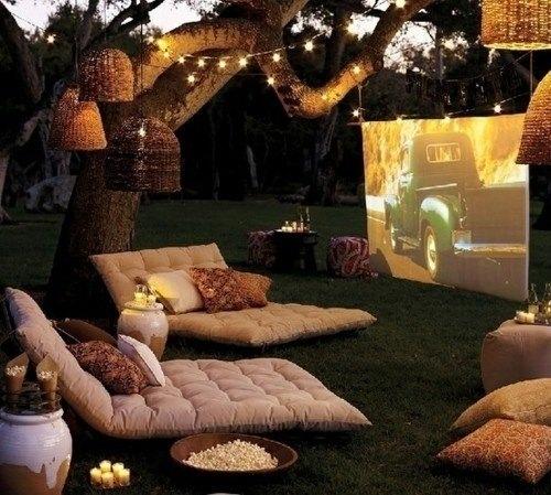 You can set up a movie theater