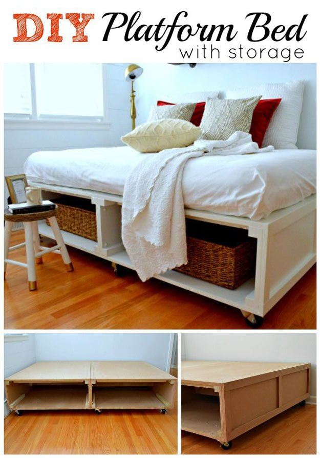 Amazing DIY Platform Bed with Storage