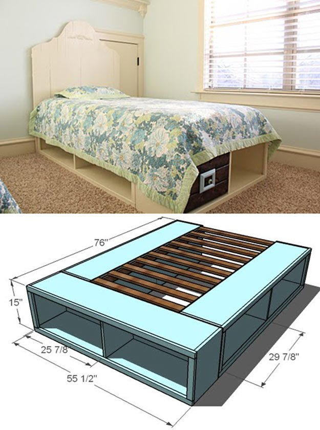 Beautiful Twin Storage Bed