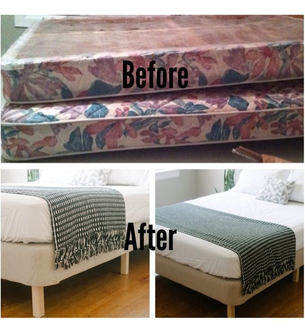 platform bed ideas bed frame from a box spring